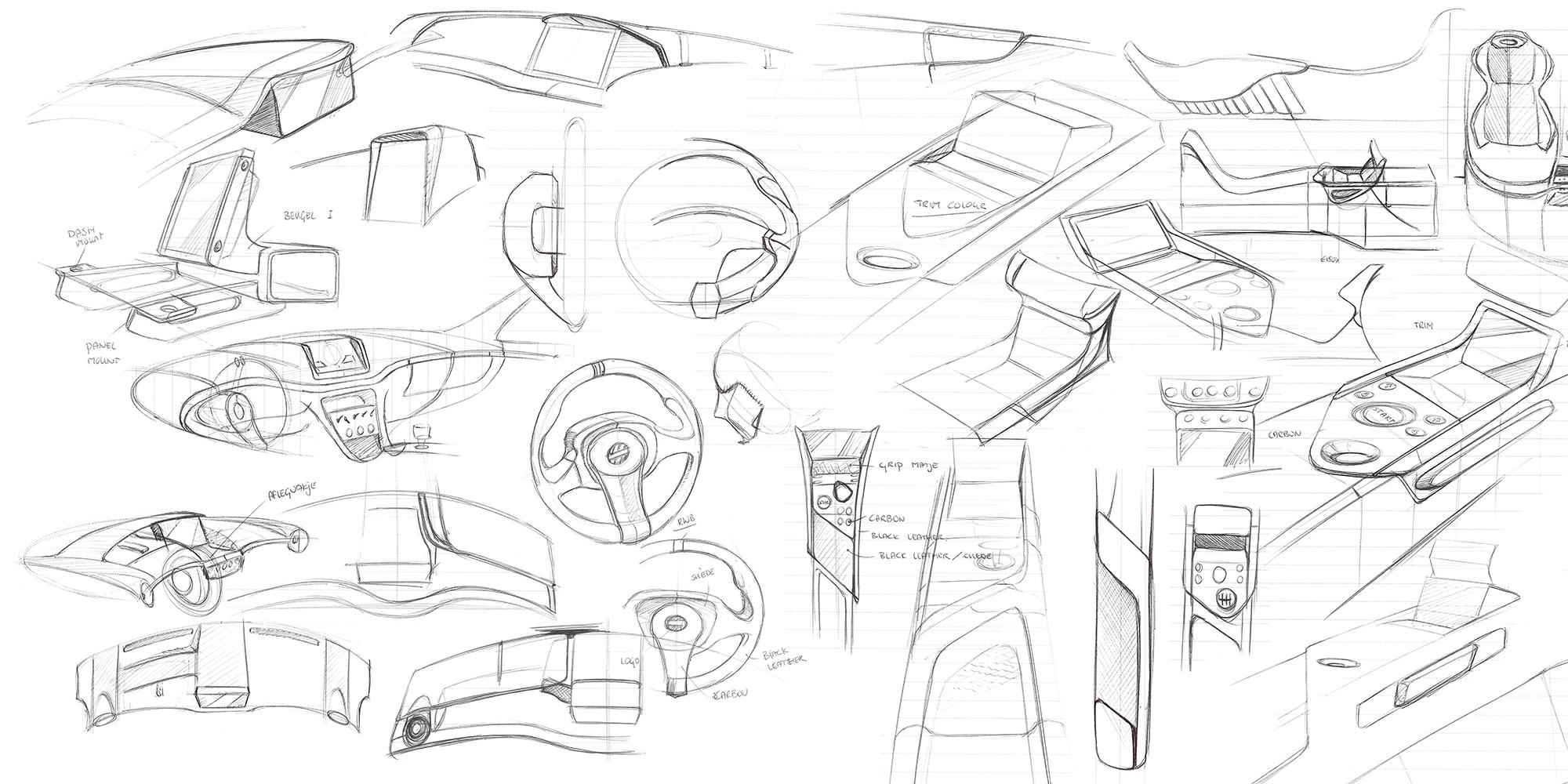 Vencer Sarthe Interior Sketch Study